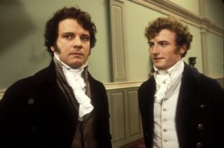 Darcy (Colin Firth) en mr Bingley (Crispin Bonham-Carter)